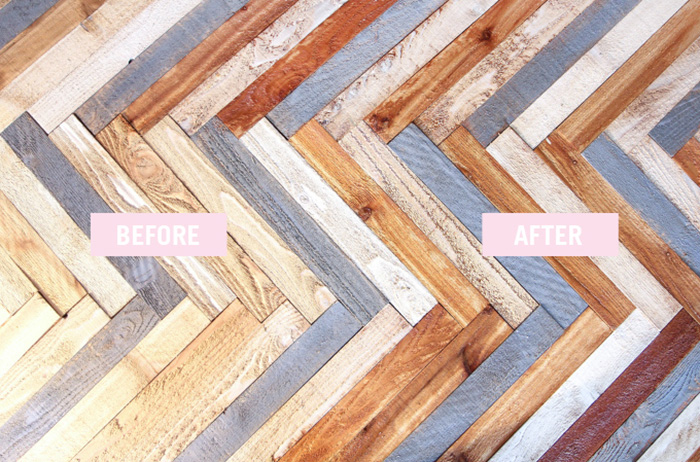 Wooden protection for DIY headboard