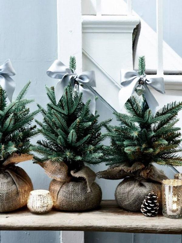 Árboles de navidad minimalista