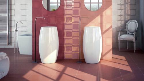 Azulejos Baño Color Rosa:azulejos modernos para baño 1
