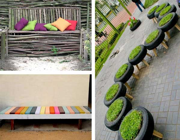 15 fotos e ideas para hacer un banco para el jard n mil for Ideas jardin