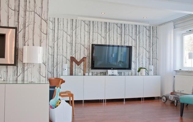 Idea para montar un mueble TV BESTA IKEA para el salón, en blanco