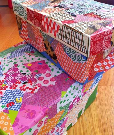 Cajas decoradas de cartón