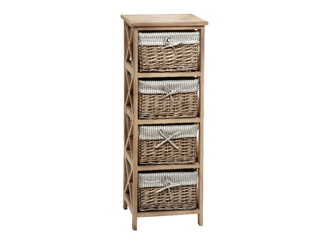 wicker basket chest of drawers