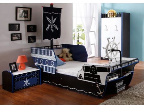 la cama barco pirata para ni os sue os al abordaje mil ideas de decoraci n. Black Bedroom Furniture Sets. Home Design Ideas