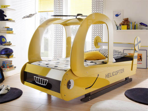 cama niños helicoptero