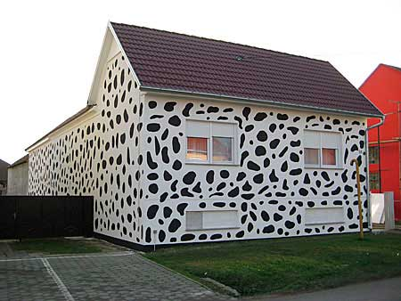 Fachada casa pintada por fuera de dalmata