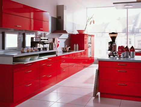 Cocinas rojas a todo color mil ideas de decoraci n for Red kitchen designs photo gallery