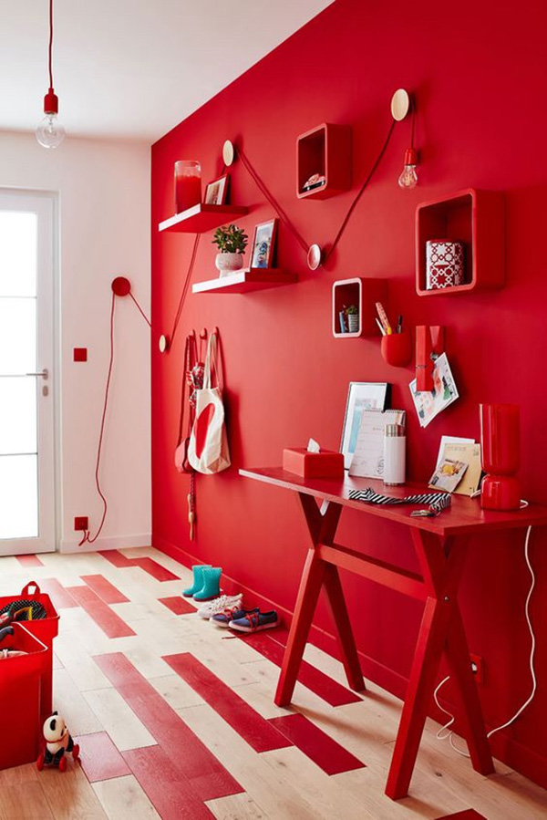 charming design red wall bedrooms | Agresivo color bermellón en paredes.10 aciertos | Mil ...