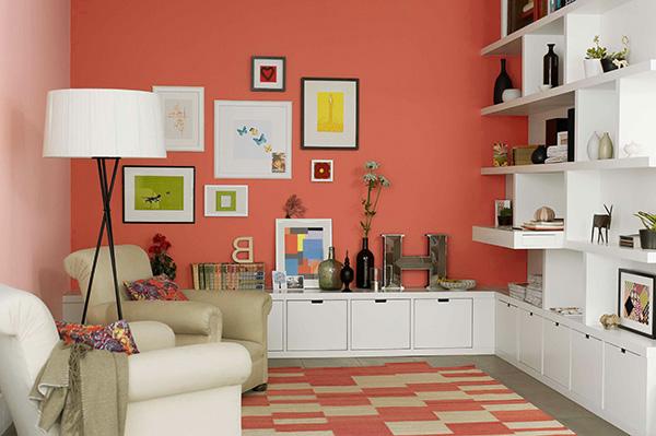 Color coral en paredes 30 ideas para pintar la casa con - Ideas para pintar la casa ...
