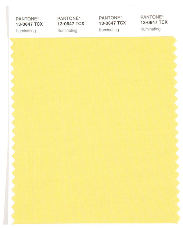Color del año Pantone 2021 Amarillo Illuminating