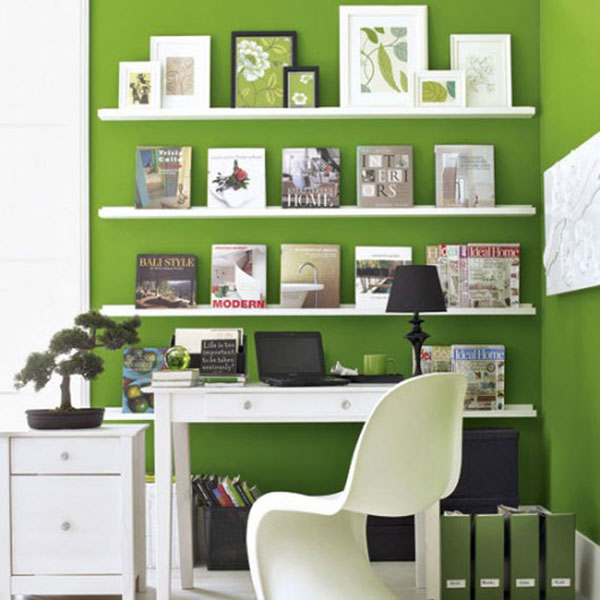 Home Office Decor For Private Impression: 12 Colores Que Combinan Con El Verde