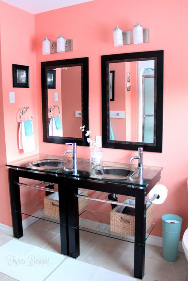 Colores para pintar el baño: Fresca sandía