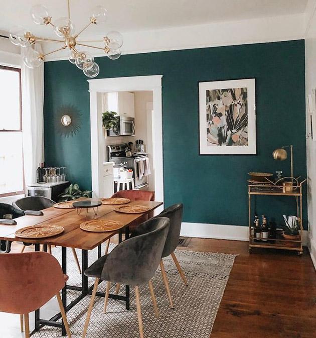 31 bellos colores para pintar tu comedor