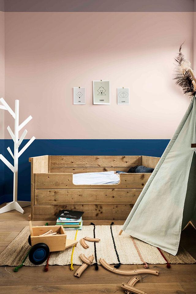 Combinación de colores para pintar un dormitorio infantil