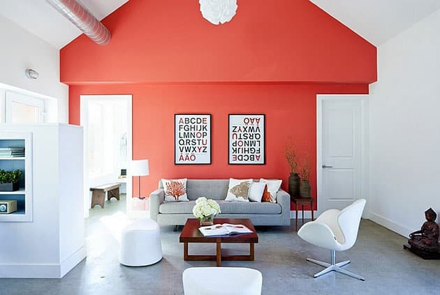 Los 11 colores que mejor combinan con el color coral en for Decoracion de interiores color rojo
