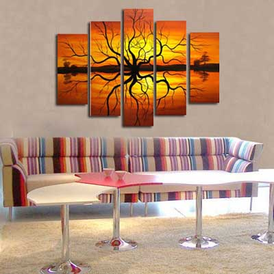 35 cuadros modernos abstractos tr pticos d pticos mil - Lienzos decorativos ...