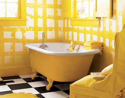 black and yellow bathroom ideas fotos e ideas para pintar los azulejos ba 241 o 23183