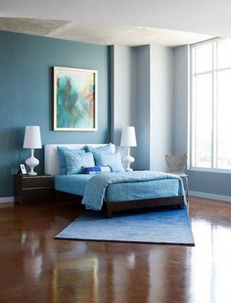 20 ideas para pintar y decorar un dormitorio con colores for Colores relajantes para dormitorio
