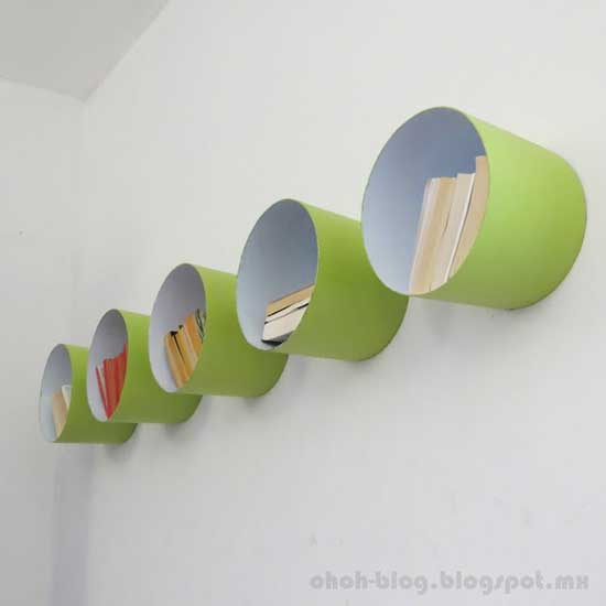 cubos de pintura estantes pared 3