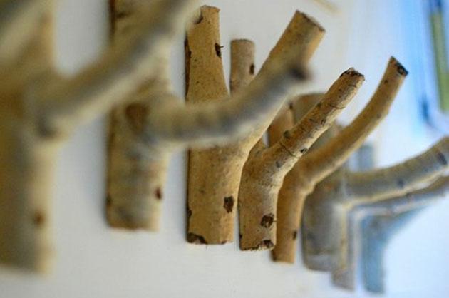 Decoración con ramas de árbol