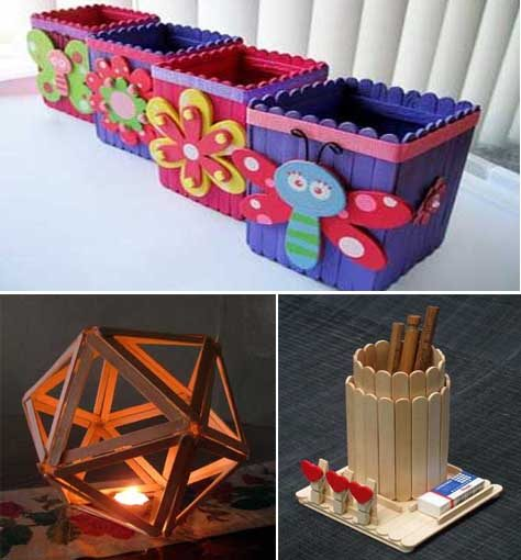 25 ideas diy and craft para crear y decorar con palitos for Decoracion del hogar con velas