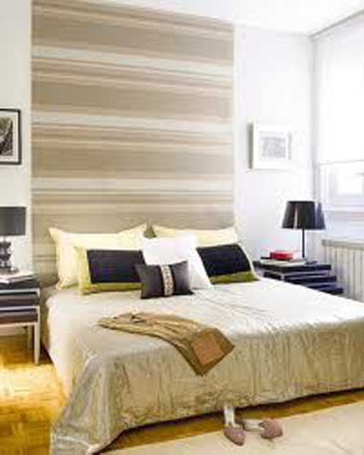 Ideas para decorar un dormitorio con papel pintado y - Cabeceros papel pintado ...