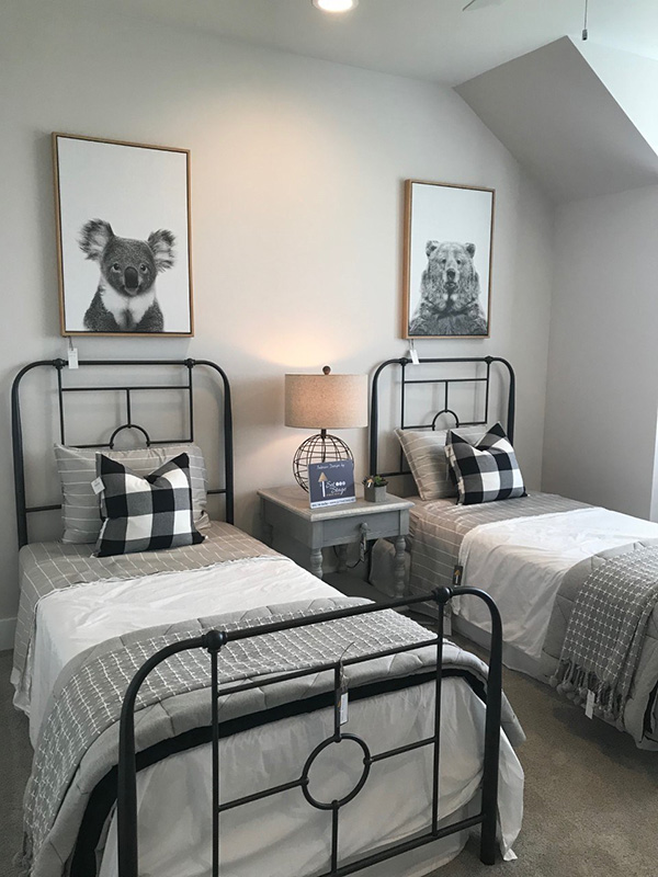 Un dormitorio juvenil moderno