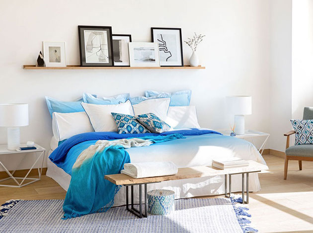 10 ideas para decorar la pared del cabecero de la cama con - Estanterias originales de pared ...