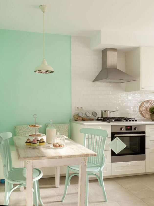 25 ideas para decorar la pared de la cocina - Paredes de agua para interiores ...