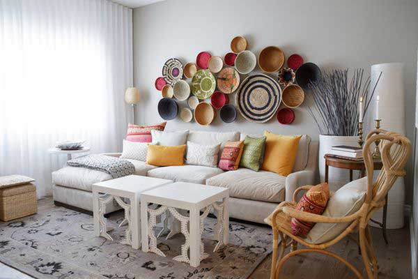 9 ideas para decorar las paredes sin pintura mil ideas for Como decorar una pared con pintura