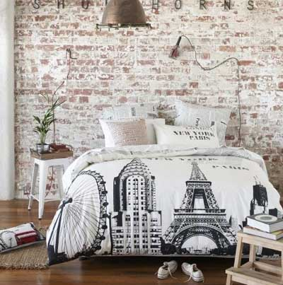 50 fotos e ideas para decorar con ladrillos vistos las - Decorar pared dormitorio ...