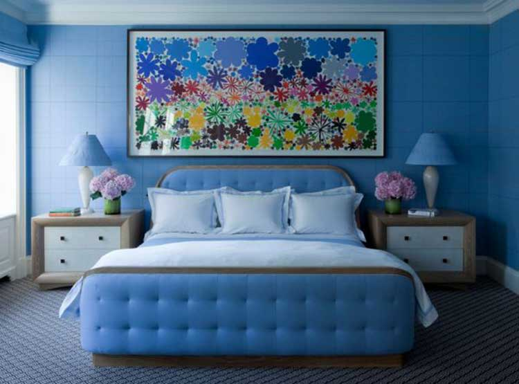 15 fotos e ideas para pintar y decorar un dormitorio de for Pintura azul pared