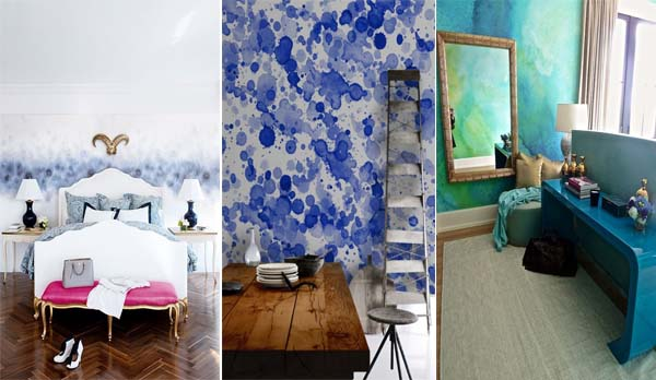 15 fotos e ideas para pintar y decorar las paredes con acuarelas mil ideas de decoraci n - Ideas fotos pared ...