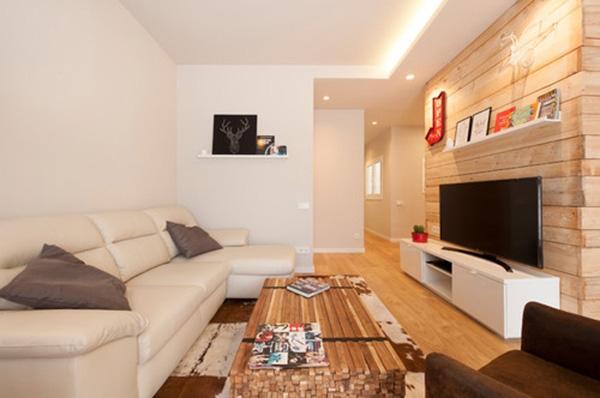 Un salón rectangular