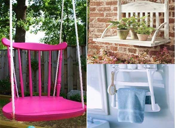 15 ideas para reciclar y decorar el hogar con sillas for Todo ideas originales para decorar