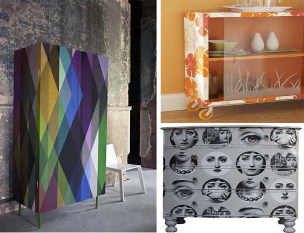 25 fotos e ideas para decorar un mueble con papel pintado - Papel autoadhesivo para decorar ...