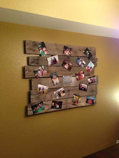 15 ideas para decorar con palets de madera mil ideas de - Como poner fotos en la pared ...