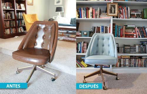 Antes y después de restaurar y decorar una silla antigua