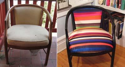 Decora y restaura tus sillas cambiando el tapizado y pintándolas