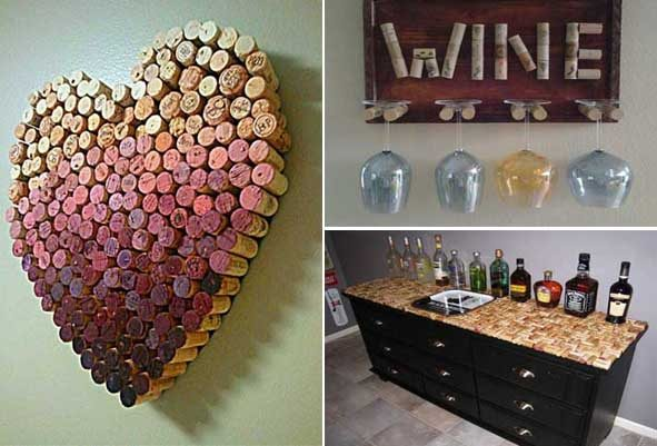 50 ideas diy para decorar con tapones de corcho reciclados for Objetos para decorar cocinas