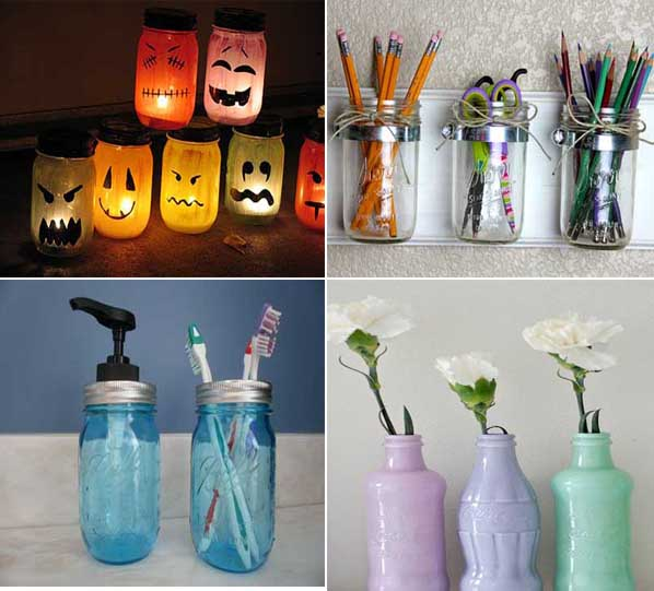 35 ideas creativas para reciclar y decorar con tarros de for Ideas para decorar la casa con material reciclado