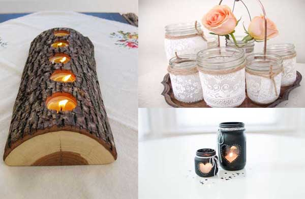 30 ideas para fabricar candelabros con materiales for Articulos decoracion