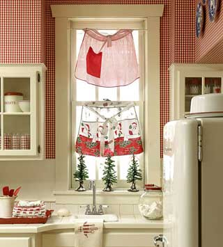 country kitchen curtain ideas c 243 mo decorar las ventanas en navidad fotos e ideas mil 16938