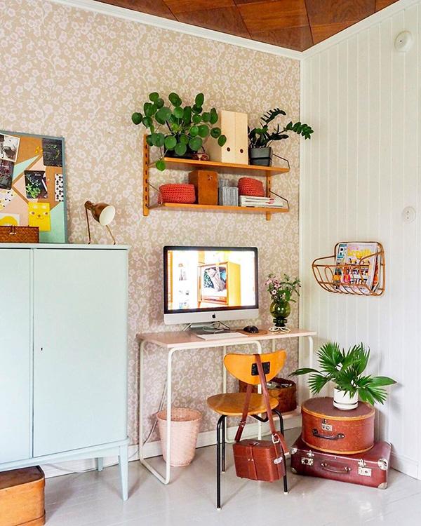 Un despacho en casa de estilo vintage