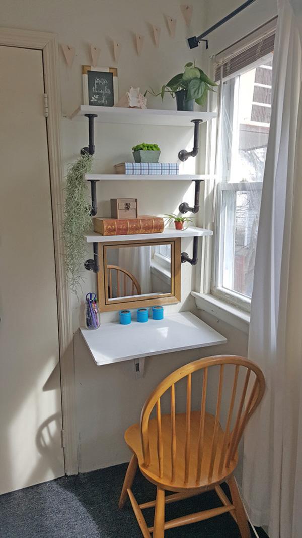 Idea para integrar un pequeño despacho en casa