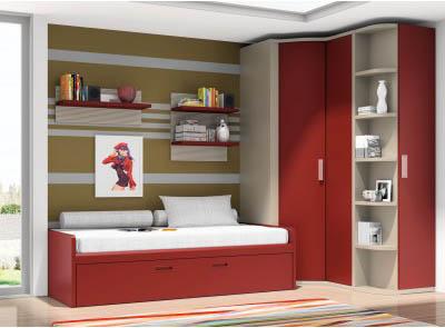 Dormitorios juveniles modernos mil ideas de decoraci n for Closets modernos para jovenes