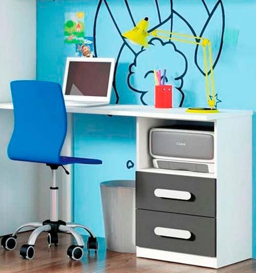 La vuelta al cole escritorios modernos y econ micos for Muebles de escritorio baratos