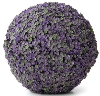 Esfera decorativa de hojas artificiales