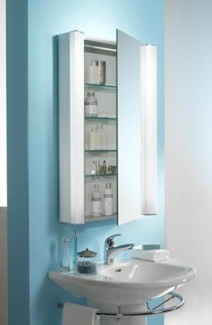 10 maneras distintas de colocar el espejo en el cuarto de - Decorar espejo bano ...