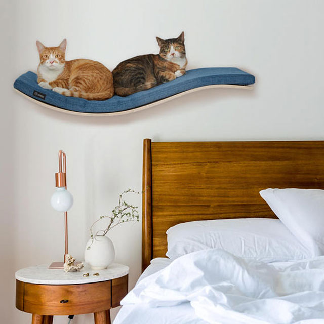 Estante de pared cama para gatos